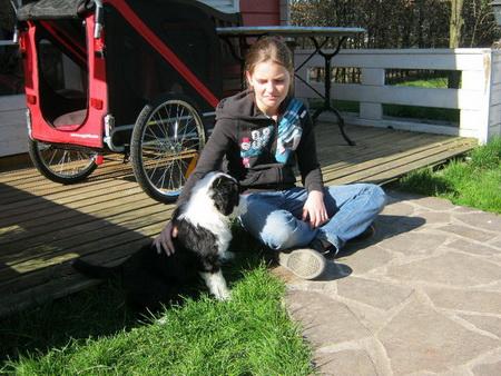 Gestern im Garten mit Pia!