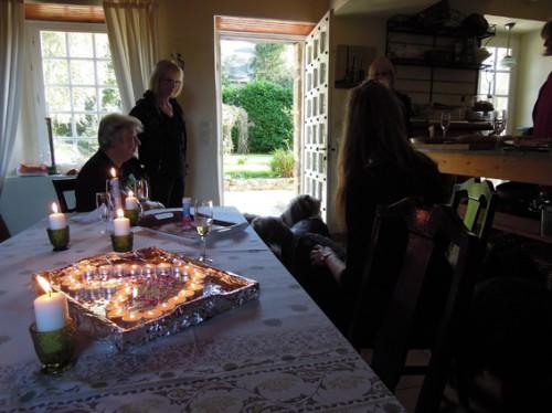 Ein Lichtermeer zu Geburtstag arrangiert von Ilka!