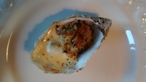 Überbackene Auster - eigentlich ganz lecker!