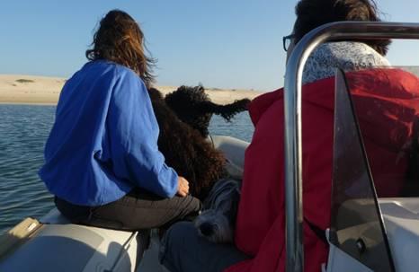Mit dem Boot zum Lagunenstrand fahren